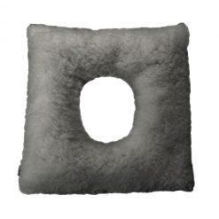 cojín cuadrado borreguito con agujero