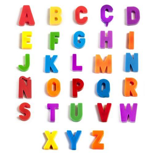 letras mayúsculas mágneticas lenguaje