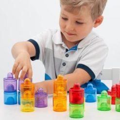 Apilables de Colores Transparentes
