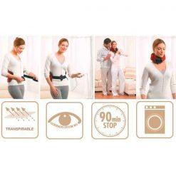 Manta cinturón eléctrico Lumbar/Cervical funciones
