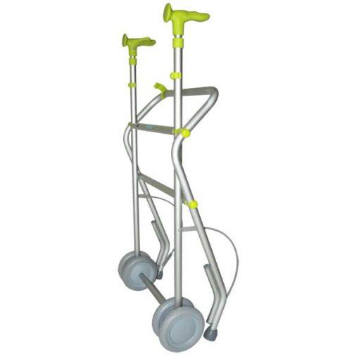 Andador Aluminio con Ruedas - Plegado