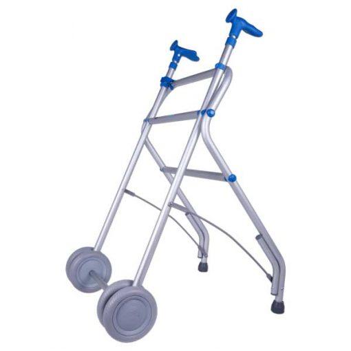 Andador Aluminio con Ruedas - Azul