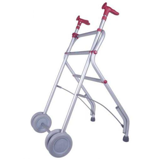 Andador Aluminio con Ruedas - Coral