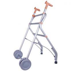 Andador Aluminio con Ruedas - Salmón