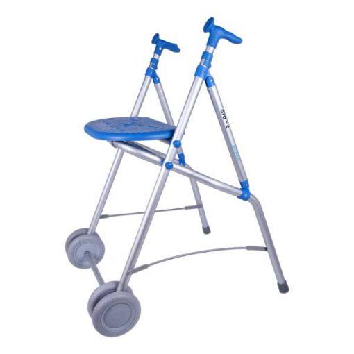 Andador de Aluminio con Asiento - Azul