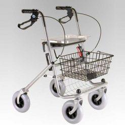 Andador Rollator de acero polivalente