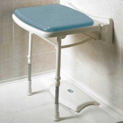 Asiento ducha abatible acolchado