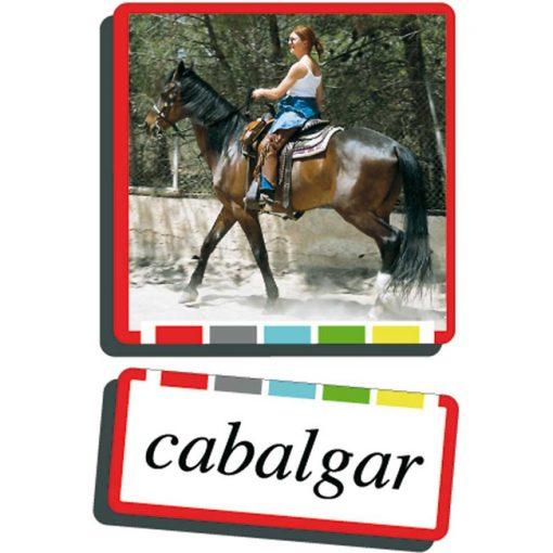 Autodidacto fotos verbos cabalgar