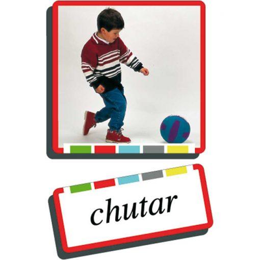 Autodidacto fotos verbos chutar