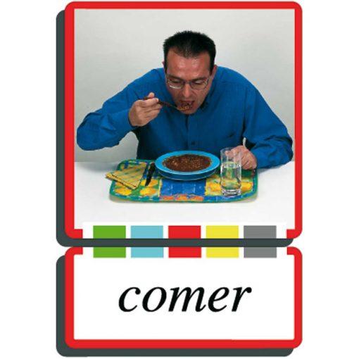 Autodidacto fotos verbos comer