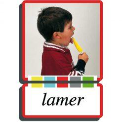 Autodidacto fotos verbos lamer