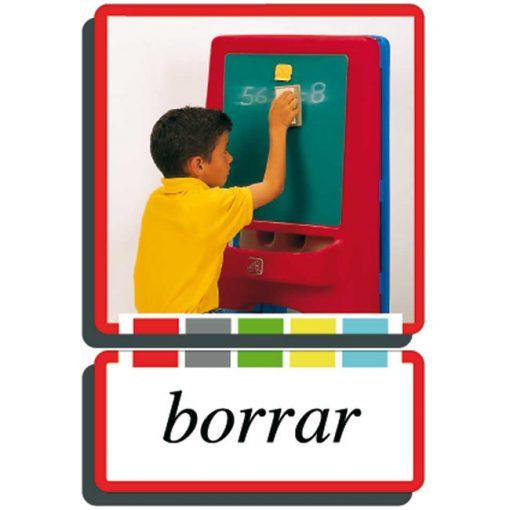 Autodidacto fotos verbos borrar