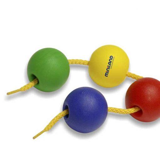 Bolas ensartables 25mm 100 bolas + 10 cordones - bolas