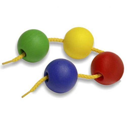 Bolas ensartables 35mm 60 bolas + 10 cordones - bolas
