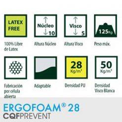 Colchón viscoelástico Ergofoam - Caracateristicas