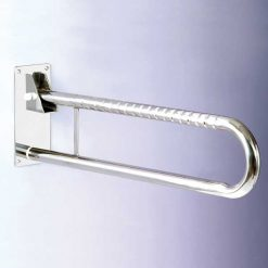 Doble barra abatible acero inox