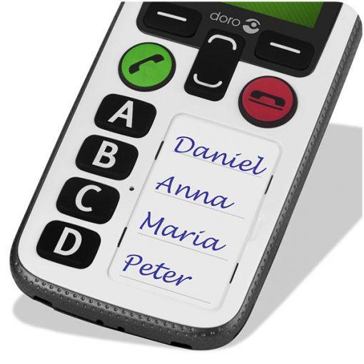 Móvil de fácil uso Doro 580 - Botones