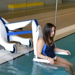 Grúa de Piscina BluPool - Acceso a la piscina