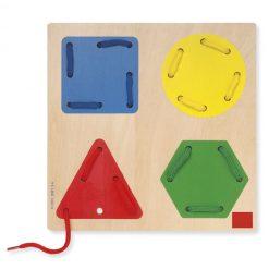 Juego Enhebrar Formas Geométricas