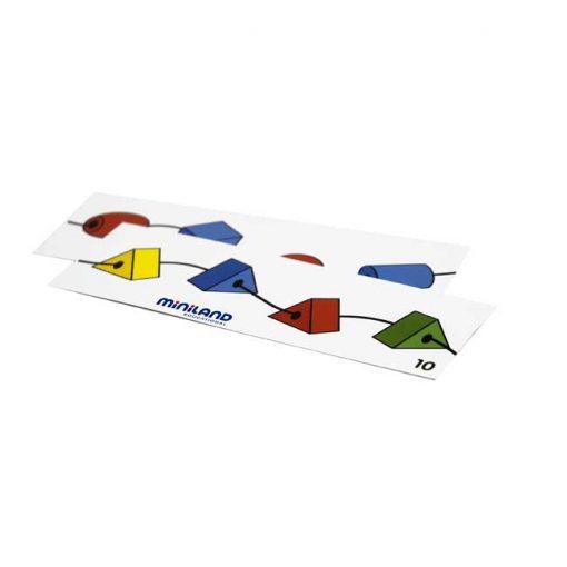 Formas ensartables 25mm 100 piezas 10 cordones - fichas