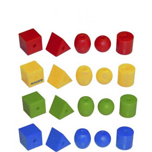 Formas ensartables 25mm 100 piezas 10 cordones - formas