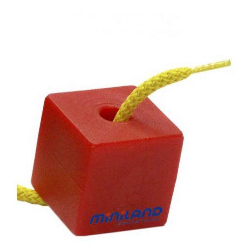 Formas ensartables 25mm 100 piezas 10 cordones - cubo