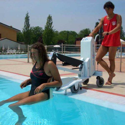 Grúa de piscina portátil Bluone