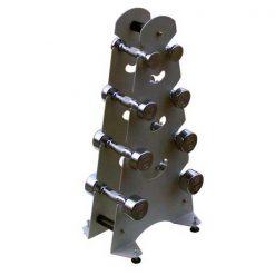 Mancuernas con soporte de metal