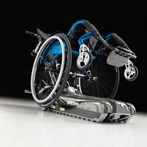 Oruga salvaescaleras Sherpa N905 con silla de ruedas
