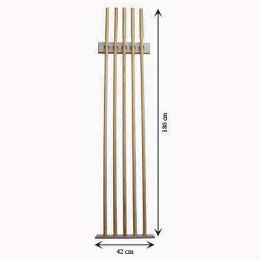 Picas de madera 5 unidades medidas