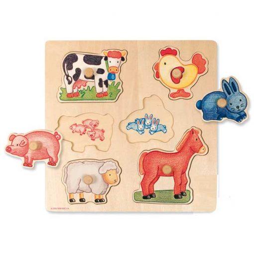 Encajable animales 6 piezas