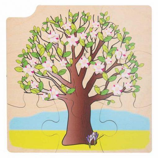 Puzzle Estaciones del Año - Verano