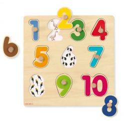 Encajable números del 1 al 10 - puzzle