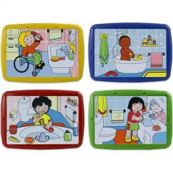 Set 4 puzzles hábitos higiene - puzzles