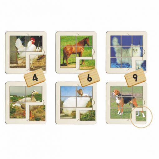 Puzzles Progresivos Animales Granja