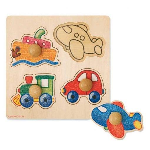 Encajable vehiculos 4 piezas - conjunto