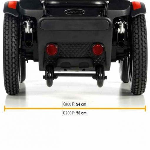 Silla de ruedas Eléctrica Q200R - Ancho total