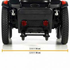 Silla de ruedas Eléctrica Q100R - Ancho