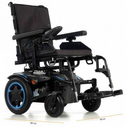 Silla de ruedas Eléctrica Q100R - Medidas