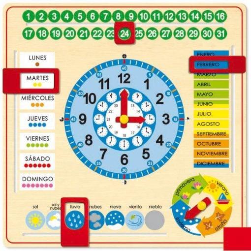Reloj calendario orientacion temporal