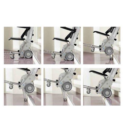 Salvaescaleras para sillas de ruedas - Yack N912 - Funicionamiento