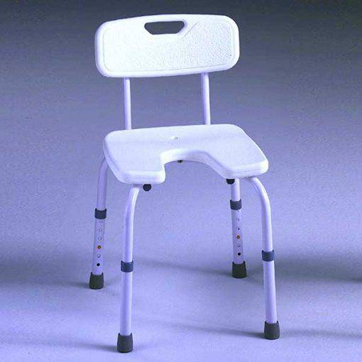 Silla aluminio ducha asiento u