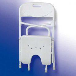 Silla de ducha plegable acuario - plegada