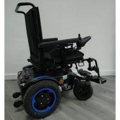Silla de ruedas Eléctrica Q200R - Azul lateral