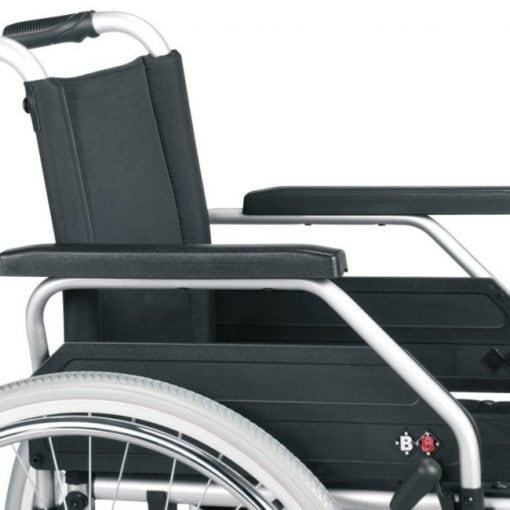 Silla de ruedas de Acero S-Eco 300 - Detalle reposabrazos