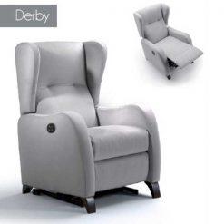 Sillón con ayuda a levantarse y relax Derby - Reposapies