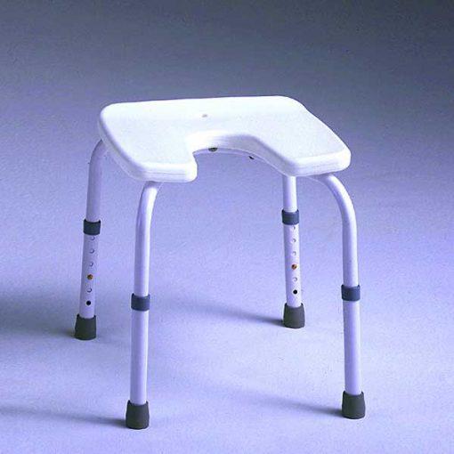 Taburete aluminio ducha asiento u