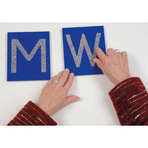 Tarjetas táctiles - letras mayúsculas - sensorial