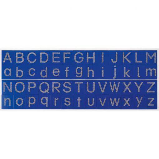 Tarjetas táctiles - letras mayúsculas - alfabeto