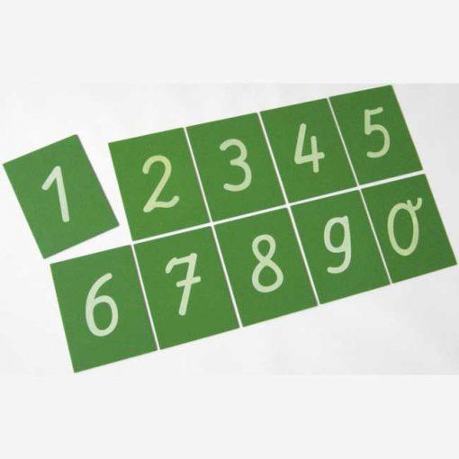 Tarjetas táctiles - números - fichas